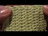 Столбики без накида за заднюю стенку Урок 19 Вязание крючком Crochet: The Bars without throw