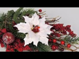 Пуансеттия Рождественская звезда из фоамирана Tavifa syoutube/watchv=dp8vzjN1b-8