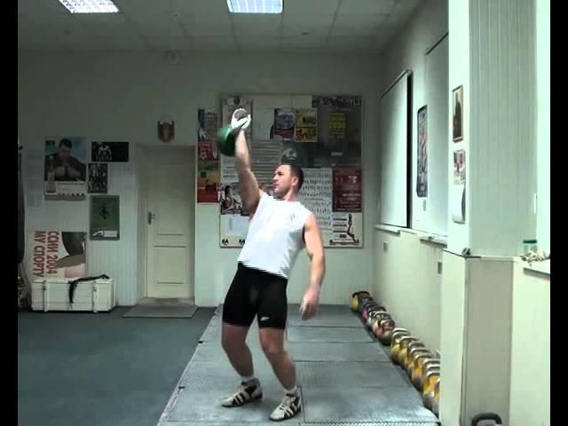 Обучение рывку гири от МСМК Игоря Морозова