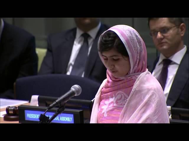 Малала Юсуфзай — выступление перед ООН