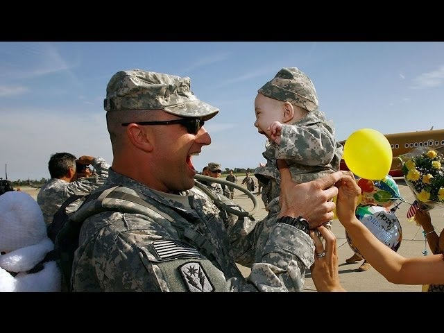 Take The Challenge And Try Not To Cry Happy Tears Part 1 US Troops Coming Home 2014