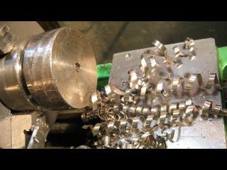 токарь 15 уровня - отрезание нержавейки диаметр 60 мм