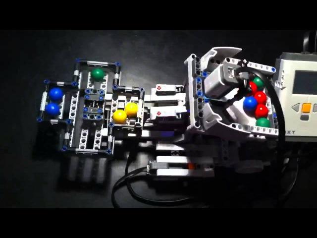 Роботы лего mindstorm часть 2 (робот-сортировщик шариков)