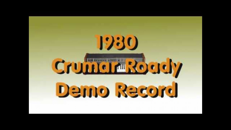 1980 Crumar Roady Demo Record