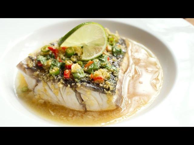 Thai Steamed Barramundi with Lime Sauce