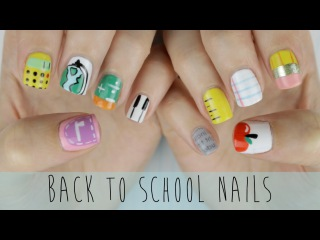 Back to School Nails: The Ultimate Guide! (маникюр в домашних условиях, делаем самостоятельно дизайн ногтей на короткие ногти, 2