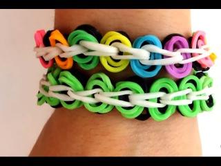 Способ плетения красивого браслета из резинок Rainbow Loom без станка
