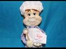МК кукла из колготок Повар-пекарь ❀ DIY doll of pantyhose Cook