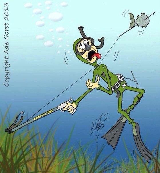Картинки приколы подводная охота