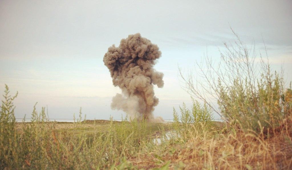 Найденные рядом с трассой «Ростов-Таганрог» снаряды вывезены на полигон