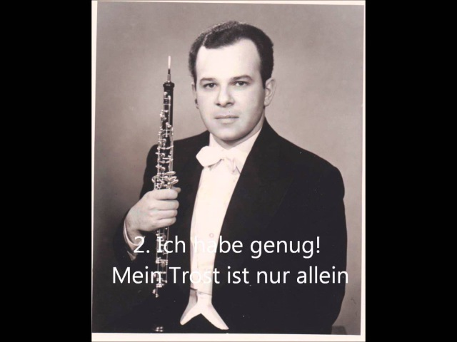 Bach - Cantata No. 82, Mack Harrell Baritone, Marc Lifschey Oboe