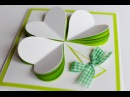 How to Make - St Patricks Day Spring Greeting Card - Step by Step Kartka Na Dzień Św Patryka