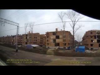 Россия из окна поезда Москва-Смоленск часть 1/2