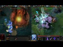 Both Ancients Have Fallen. Base Race Dota 2 moment Synchronized.