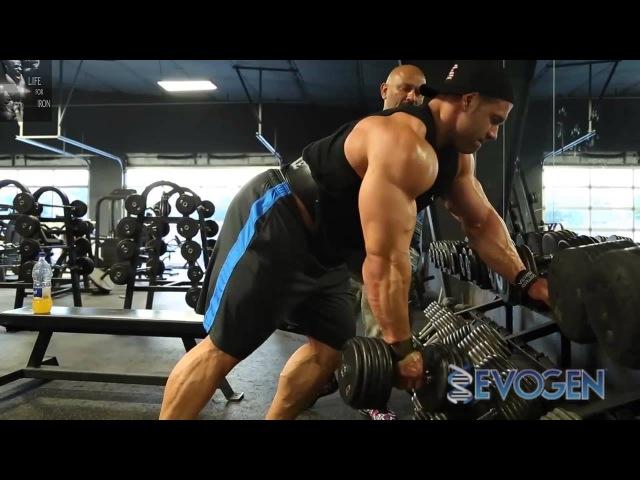 Хани Рэмбод и Стив Кукло тренировка спины за 4 недели до Олимпии 2014 (RUS) (Дубляж Life for Iron)