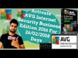 Activate-AVG Internet Security Business Edition 2016 For 26/02/2018 Days Using License Number [2016]