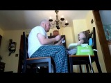 Dad Sings while Feeding Baby 3