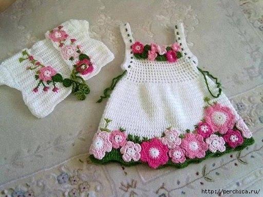 Очаровательное детское платье Весна . (10 фото)