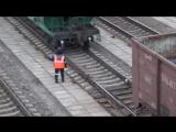 Как притормаживают вагоны на сортировке