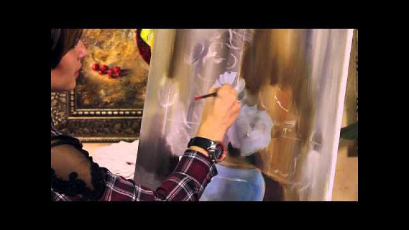 МАСТЕР КЛАСС ПО ЖИВОПИСИ - Как нарисовать Цветы Розы. Уроки живописи. Oil painting lesson