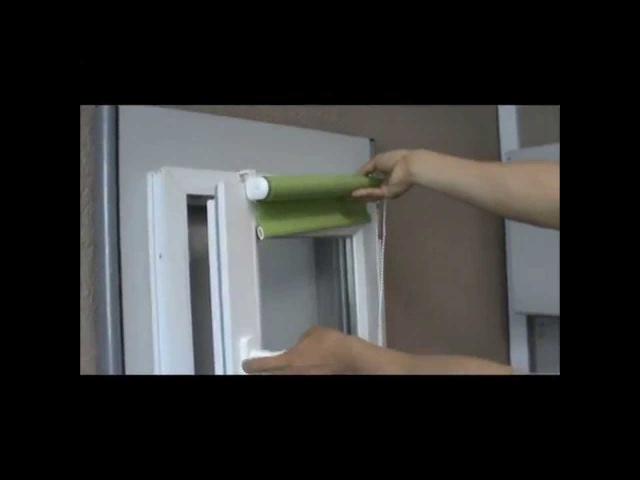 Установка рулонной шторы на пластиковое окно