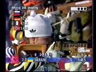 Олимпийские игры 1994, Лиллехаммер, биатлон (biathlon), эстафета 4*7,5 км, Снытина Наталья