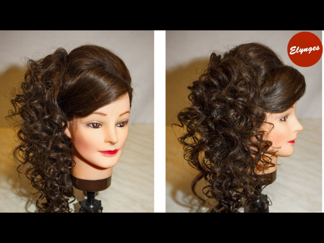 Асимметричная прическа с локонами / Asymmetrical hairstyle with curls for long hair