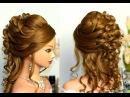 Свадебная прическа для длинных и средних волос.