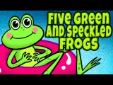 Five Green and Speckled Frogs - Counting Songs for Children - Kids songs by The Learning Station