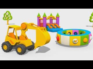 Cartoni Animati per Bambini: L'escavatore Max e i mezzi di trasporto