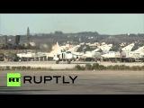 Сирия: Российские истребители в небе принял от Латакии авиабазы.