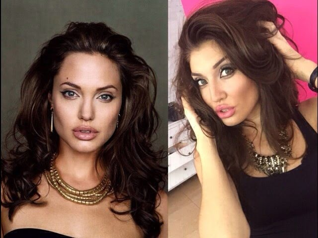 Angelina Jolie Makeup Transformation Tutorial. Макияж Анджелины Джоли.