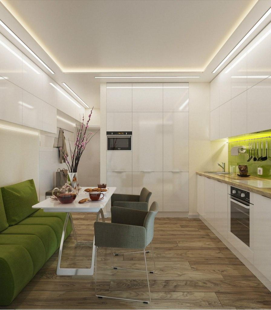 Современный дизайн квартиры 33 м в Санкт-Петербурге.