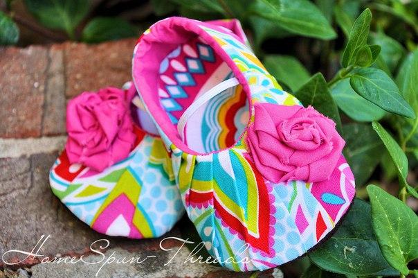 Шьём пинетки туфельки (5 фото) - картинка