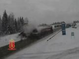 ДТП в районе Кускуна два грузовых автомобиля водитель погиб