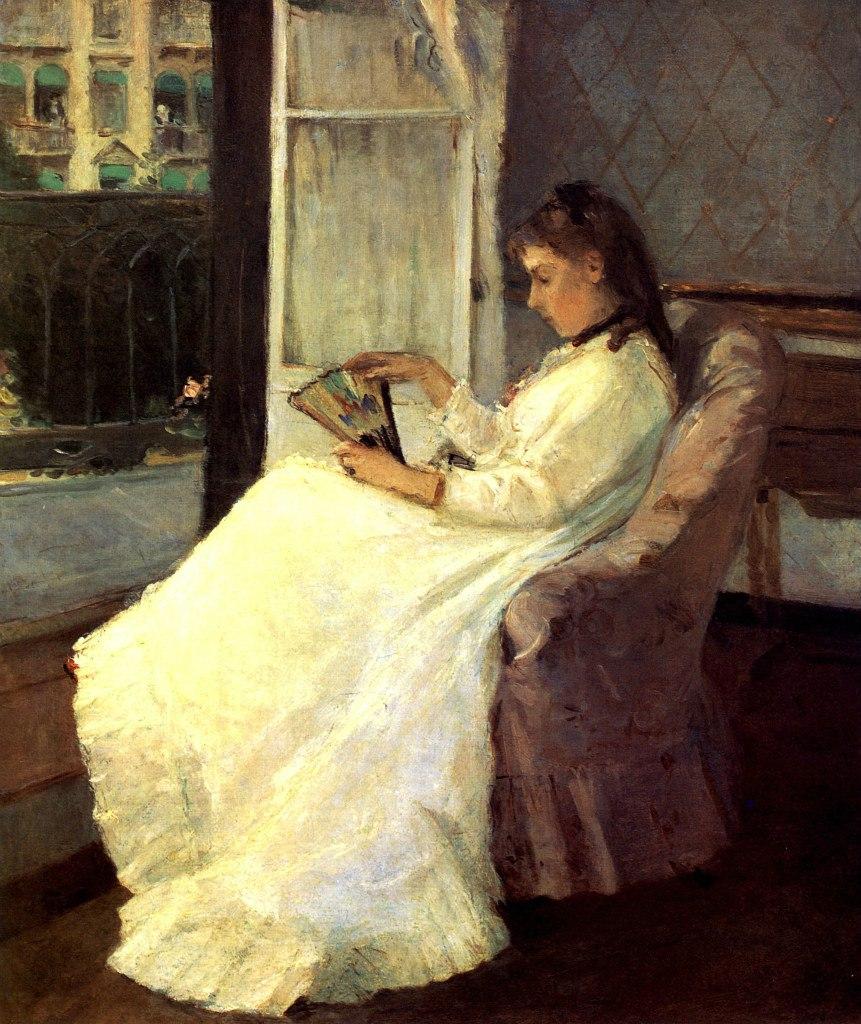 """Берта Моризо фр. Berthe Morisot 1841 — 1895 """"Сестра художницы у окна"""". 1869"""