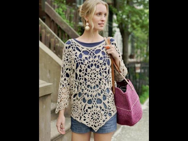 ТУНИКА. Вязание крючком. How to crochet tunic. часть 2.