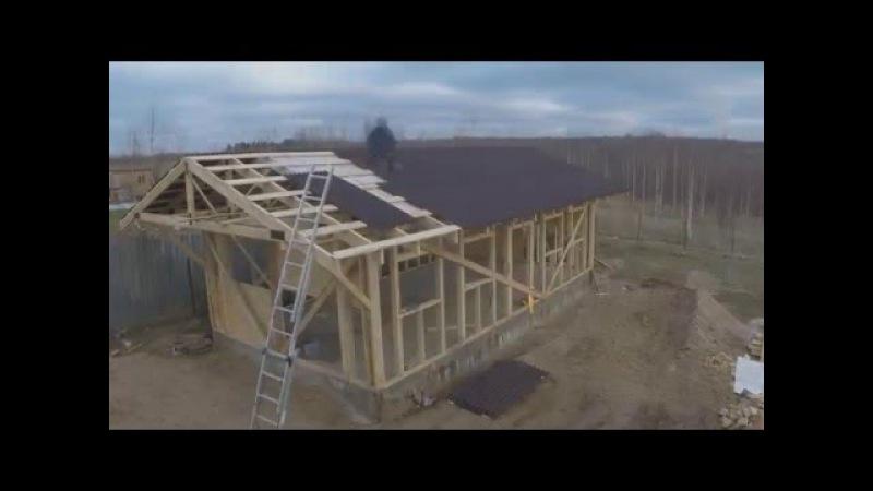 Каркасный гараж-мастерская в одиночку / garage framing alone