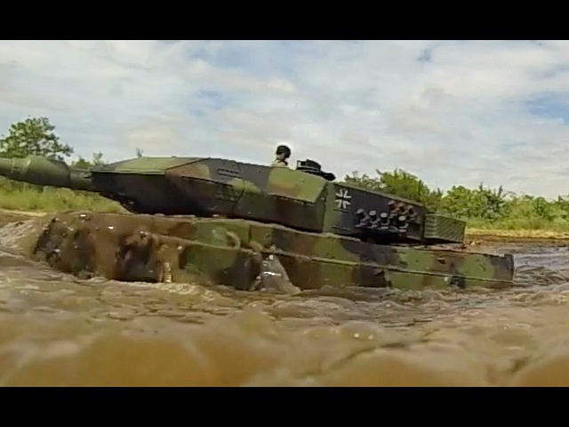 RC tank Leopard 2A6, Mato Metal Tracks... Mud sand.
