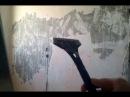 чистим стены секретный способ Штирлица вода и скребок