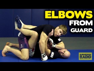 How to throw ELBOWS from the guard! - by UFC Lightweight Jake Matthews