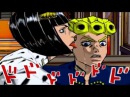 The taste of a liar! GioGio PS2 game version of the manga panel