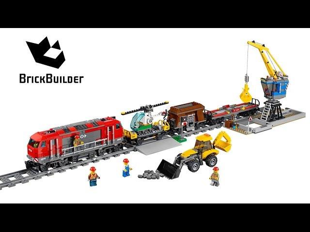 Lepin 02009 Мощный Грузовой Поезд аналог Lego Citi 60098