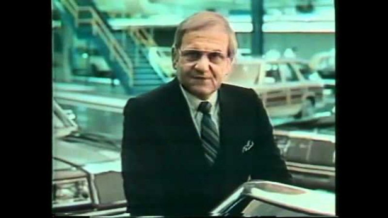 Ли Якокка le Iacocca в рекламе Chrysler 1982 год