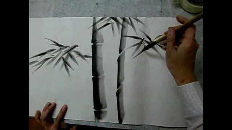 水墨画 竹 (Sumie1)