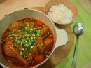Корейская кухня Так До Ри Тханг 닭도리탕 или острый суп из курицы
