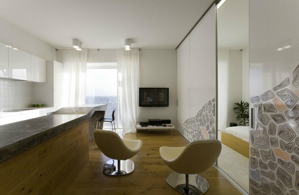 Дизайн собственной квартиры 57 м в Москве от архитектора Петра Зайцева.