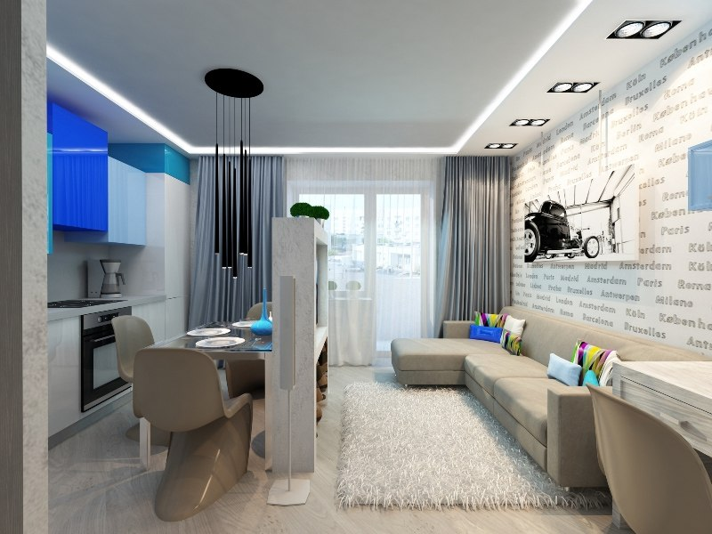 Два дизайн-концепта для квартиры 26-28 м от студии Арго-Дизайн, Тюмень.