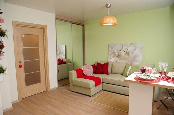 Квартира-шоурум 26 м в стиле современный прованс от застройщика ГК Меридиан Констракшн, Тюмень.