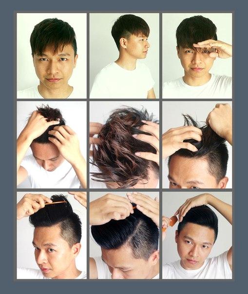 Как сделать причёску гелем